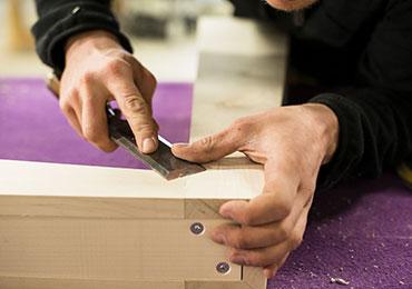 Travail manuel bois - Fondation EY