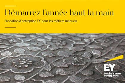 Affiche Fondation EY pour les métiers manuels